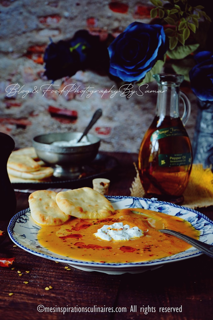 Soupe de potiron carotte et lait de coco