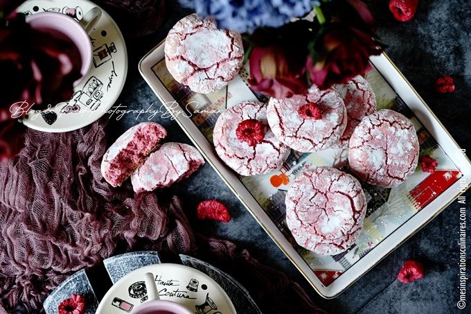 Amaretti pour octobre rose a la framboise
