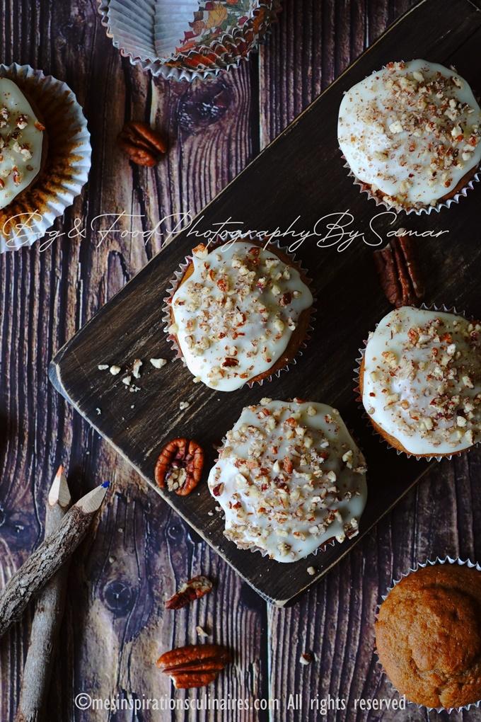 recette muffins banana bread pépites de chocolat aux noix de pecan