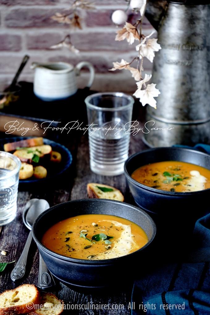 Soupe de carottes saveur Thaï