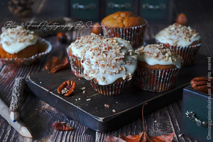 Muffins à la banane et chocolat aux noix