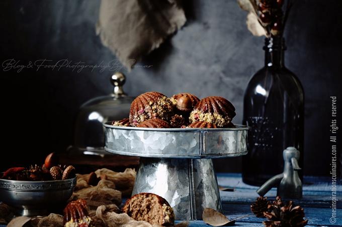 Les madeleines au nutella et noisettes