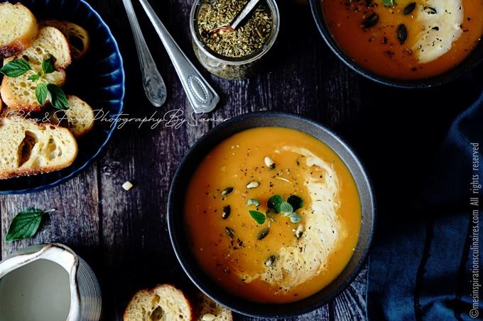 Soupe de carottes, recette facile