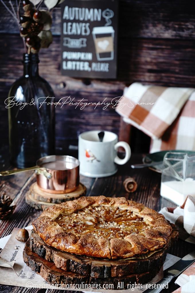Recette tarte poire et noisette rustique
