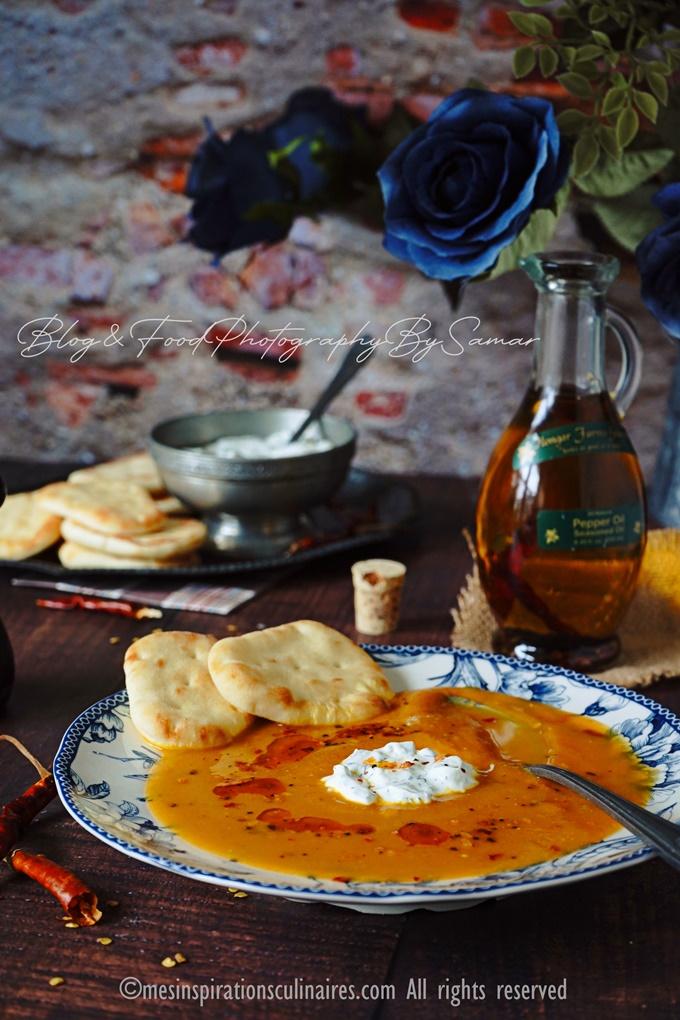 Soupe Veloutée de potiron aux carottes et lait de coco