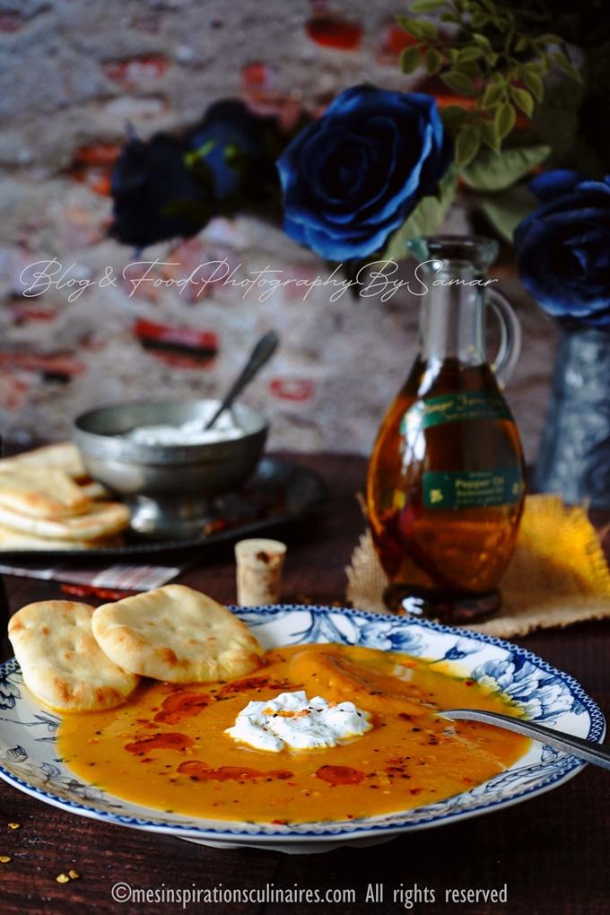 Velouté de potiron carotte au lait de coco