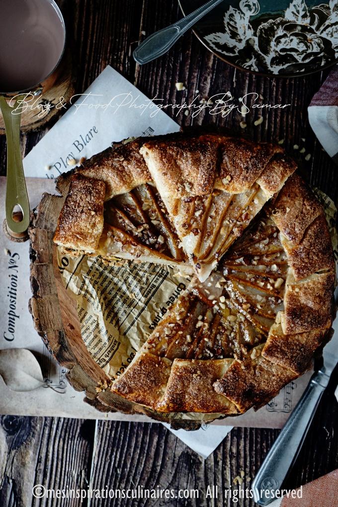 Recette tarte poire et noisettes rustique