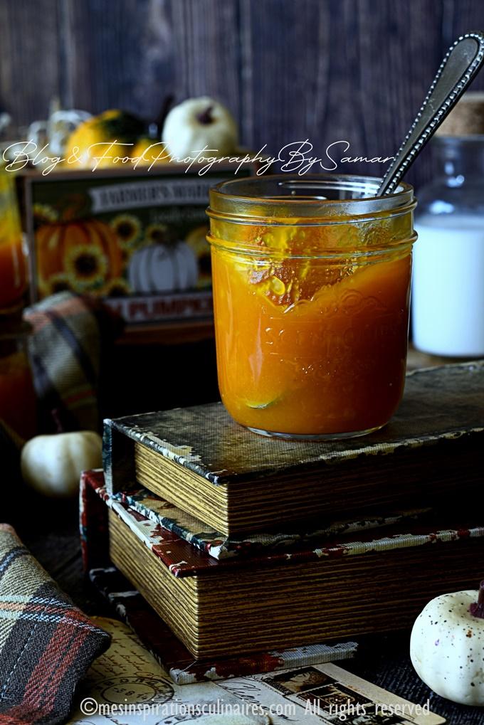 gelee maison de potimarron et orange