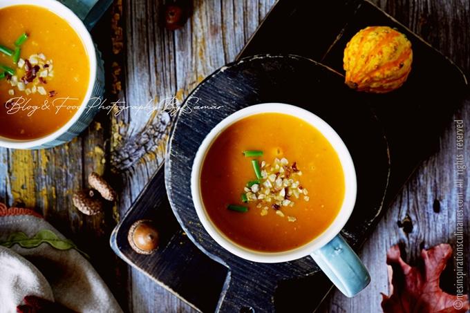 Soupe de potimarron lait de coco et sirop d'erable