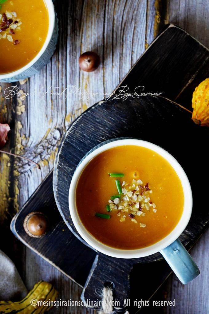 Recette soupe au potimarron au lait de coco