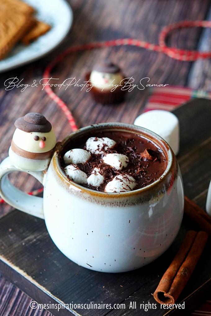 Chocolat chaud de Noel au pain d'epices