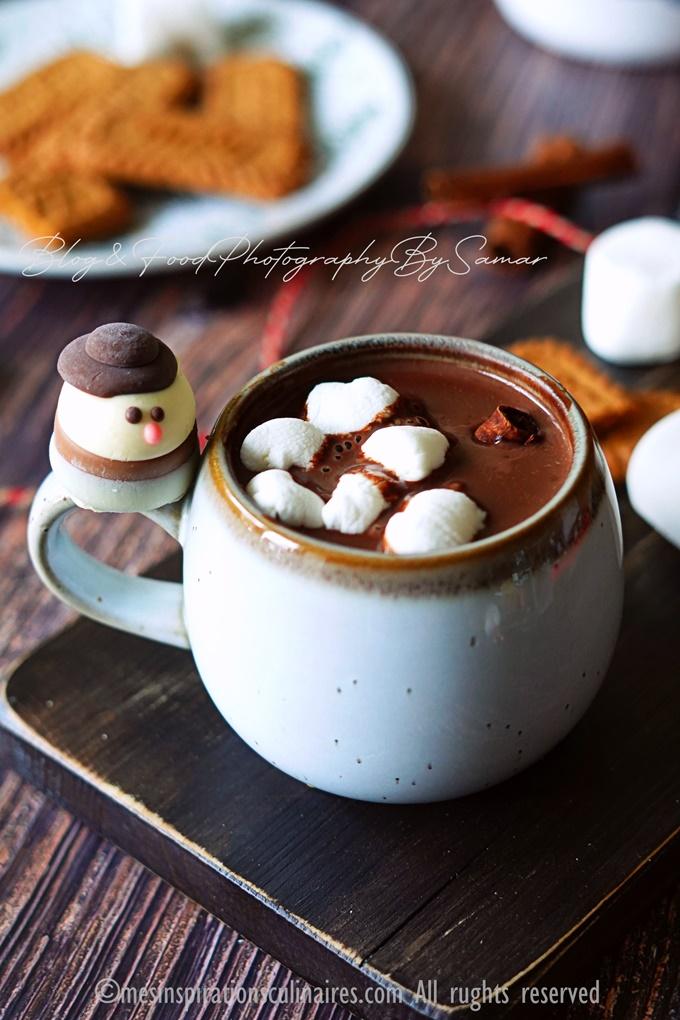 Chocolat chaud de Noël au pain d'épices