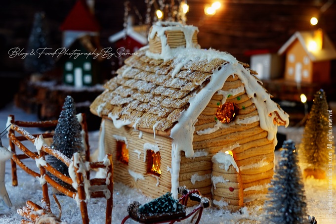 Maison en pain d'épices {gingerbread house}