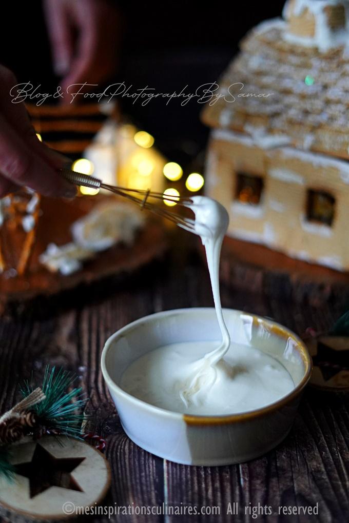Le glaçage pour décoration biscuit de Noël