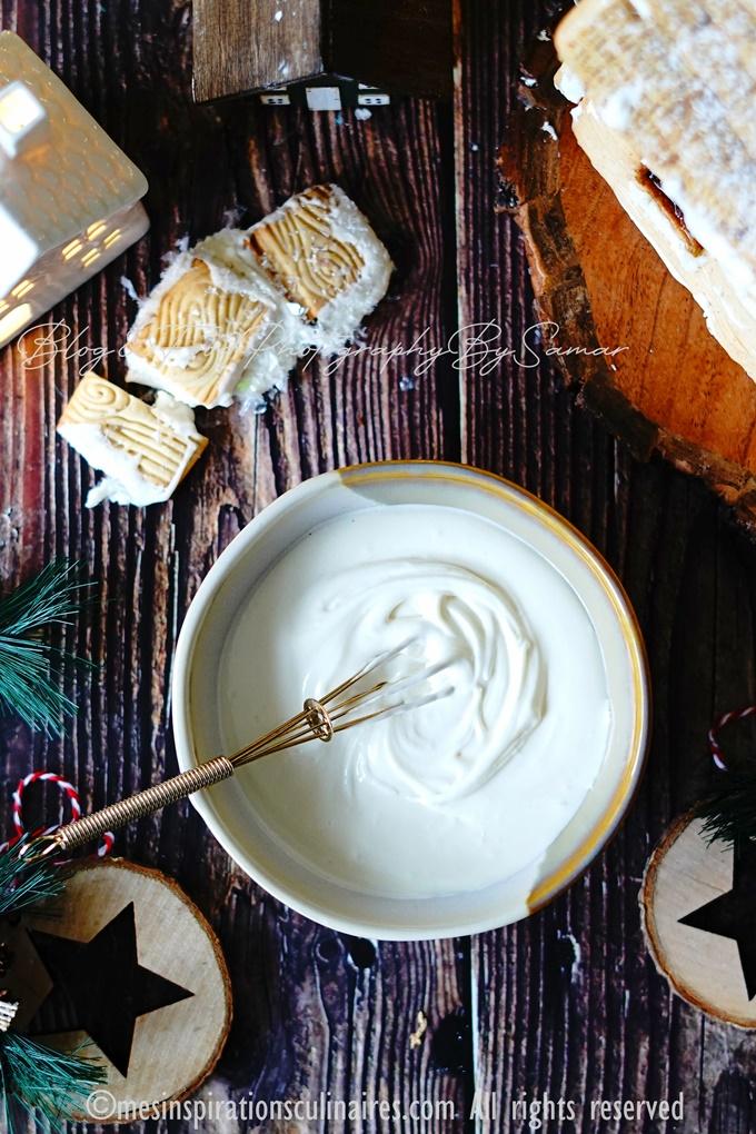 Decorer la maison pain d'epice au blanc d'oeuf pour Noel