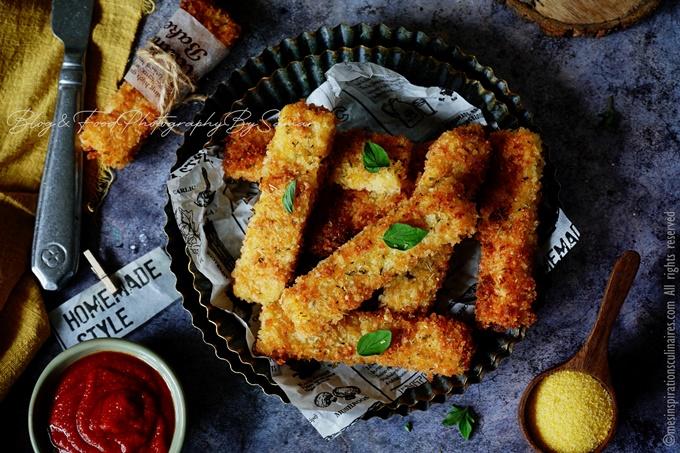 polenta frites panée