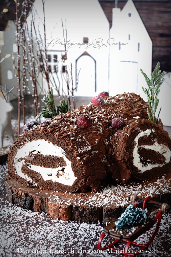 Recette Bûche de Noël a la ganache au chocolat
