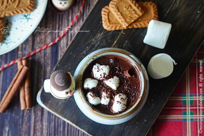 Le chocolat chaud au pain d'épices (gingerbread hot chocolate)