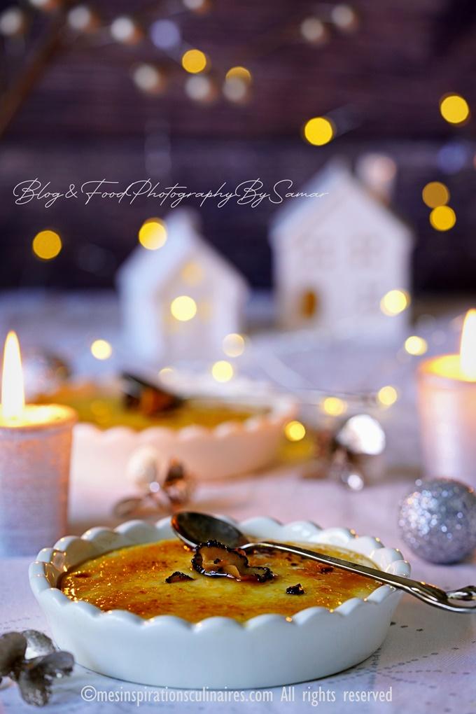 Crème brûlée au foie gras et truffes noires