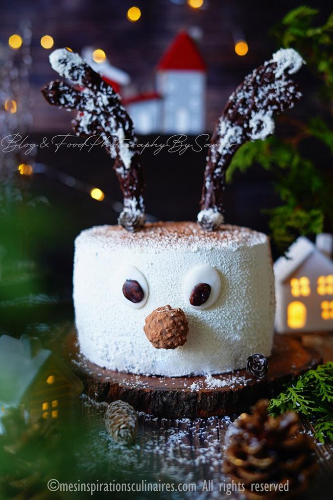gateau anniversaire Rudolphe le renne