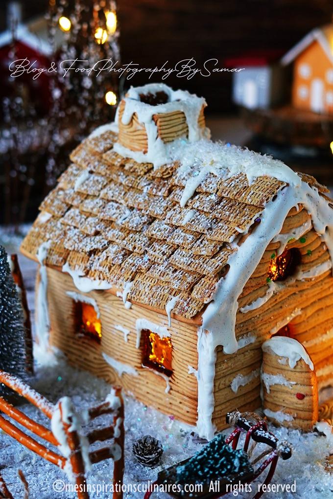 gingerbread house fait maison