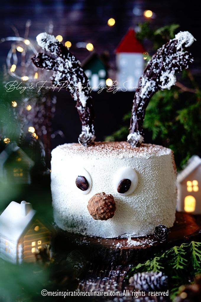gâteau d'anniversaire layer cake Rudolph