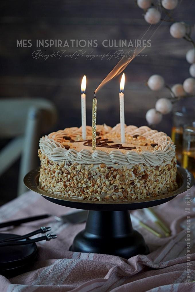 Biscuit d'anniversaire au café recette facile