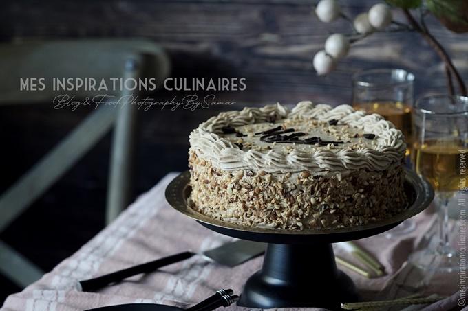 Gâteau anniversaire au café