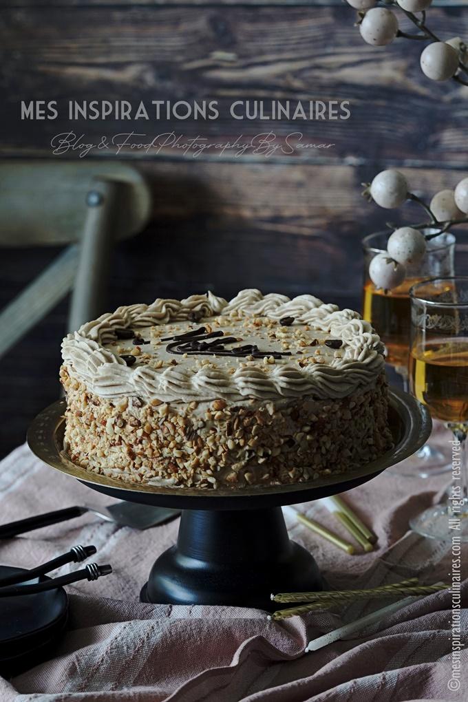 Gâteau d'anniversaire au café