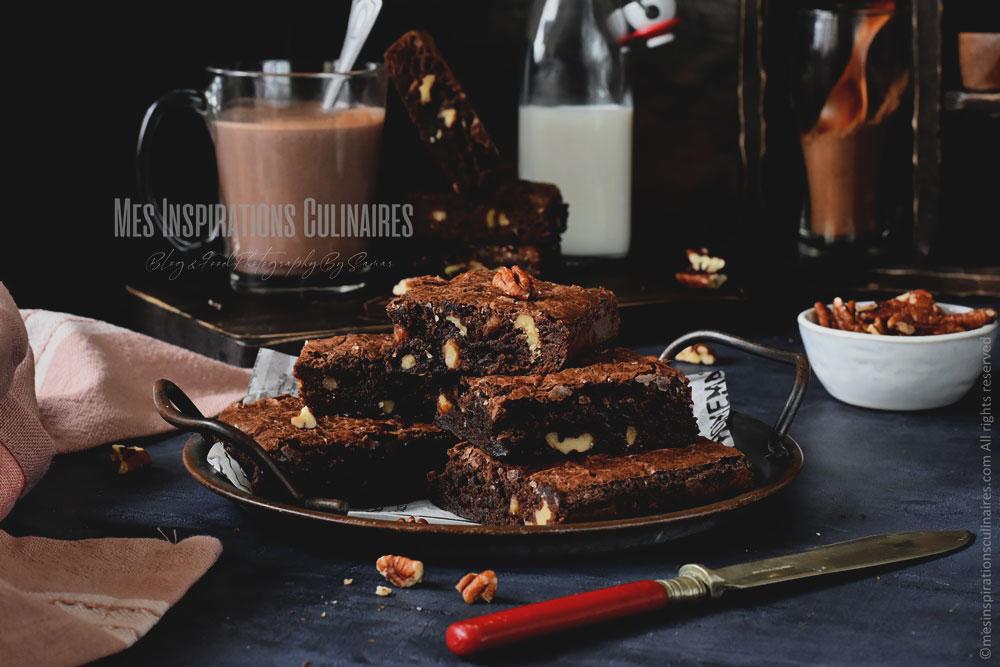 Les brownies américains aux noix de pecan