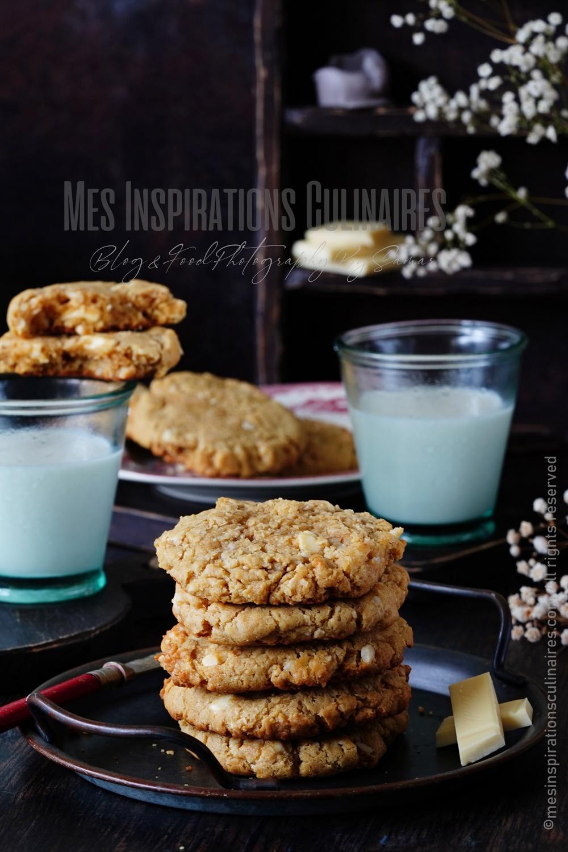 recette cookies américains au chocolat blanc