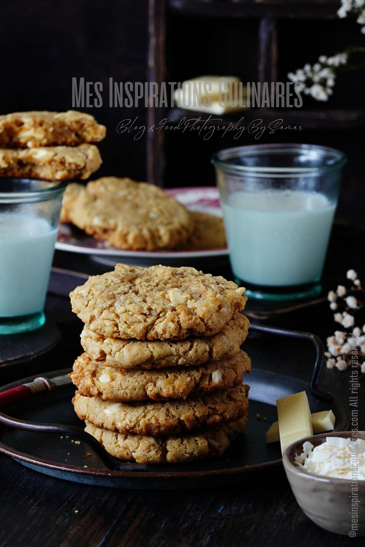 Cookies chocolat blanc au noix de macadamia