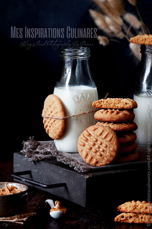 Peanut butter cookies (beurre d'arachide)