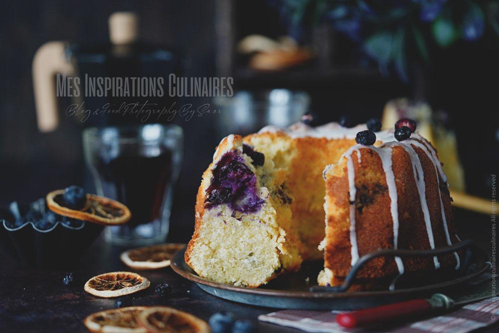 Le meilleur bundt cake aux myrtilles et citron