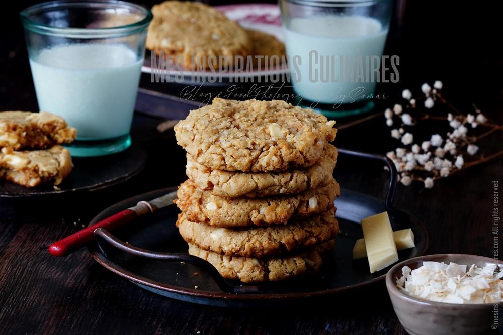 Cookies au chocolat blanc américains et noix de macadamia