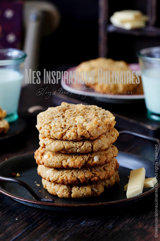 recette Cookies au chocolat blanc au noix de macadamia