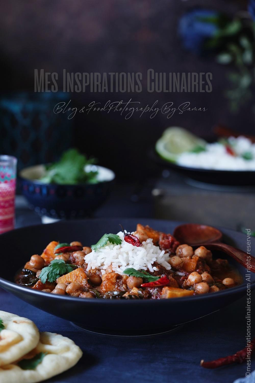 Curry de pois chiche végétarien
