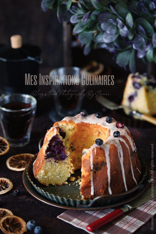 bundt cake aux myrtilles et citron