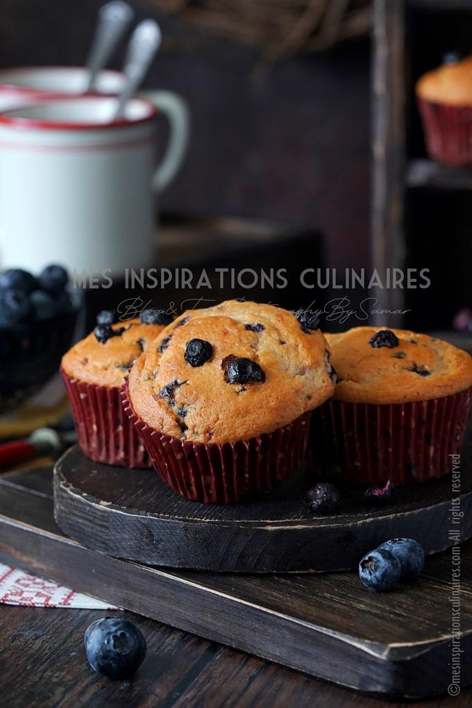 Muffins américains aux blueberries