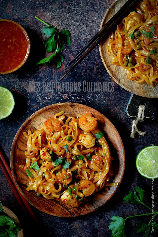 One pot pasta Thaï aux crevettes