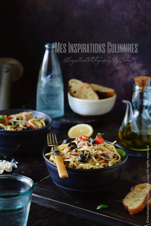 Recette de one pot pasta au thon, câpres et citron
