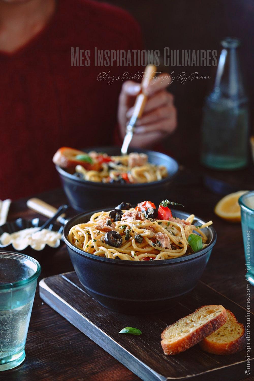 One pot pasta au thon, câpres et citron