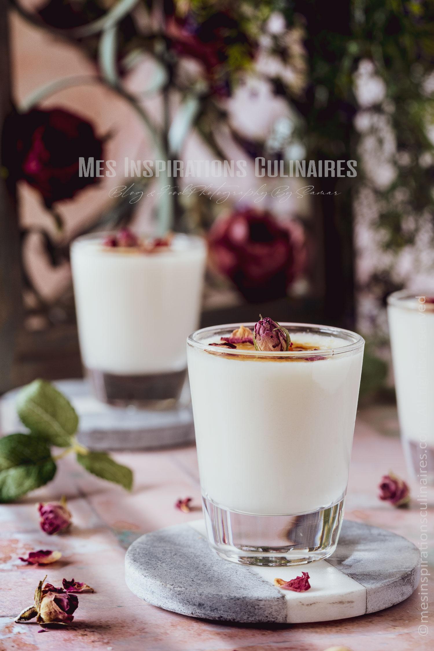 Recette mhalbi a l'eau de rose