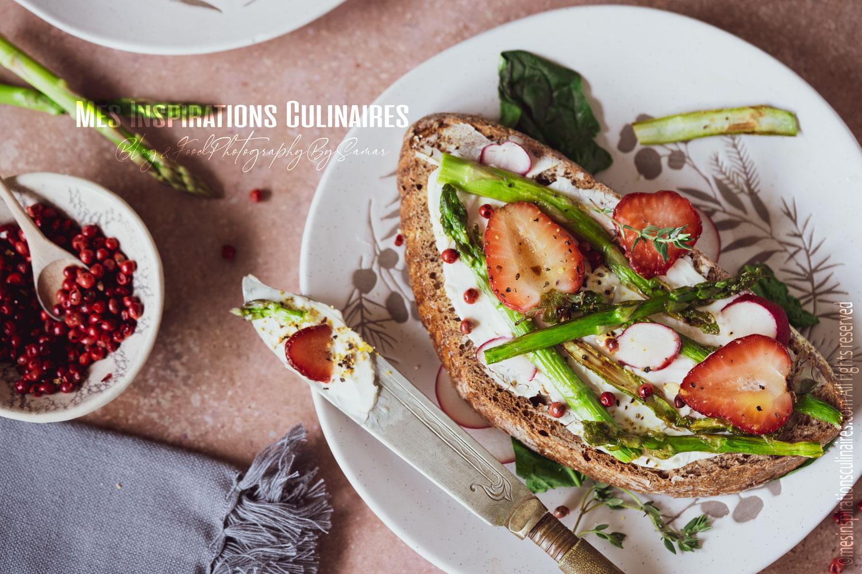 Comment faire des crostini (fraises et asperges)