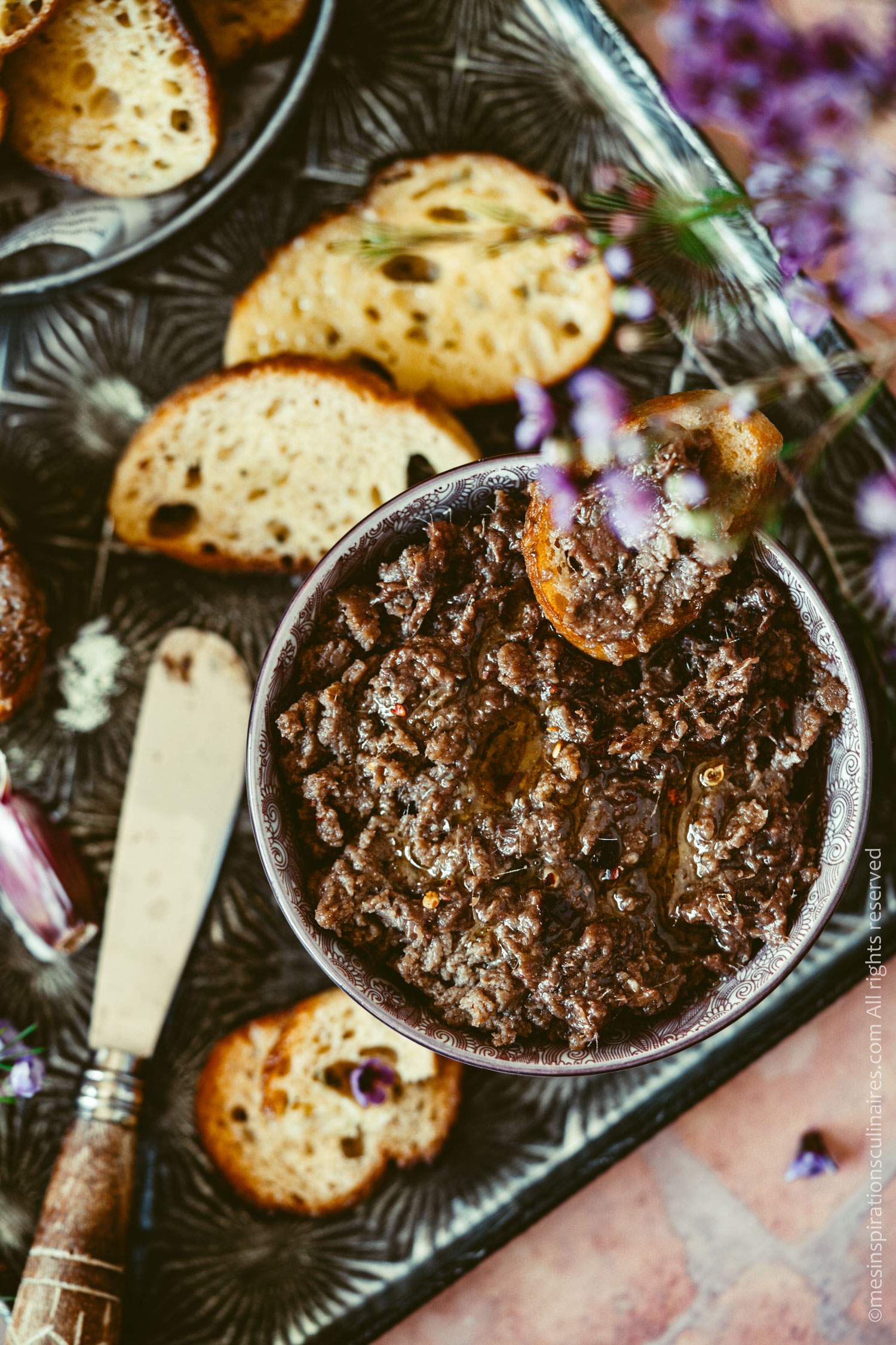 tartinade ou dip aux anchois maison