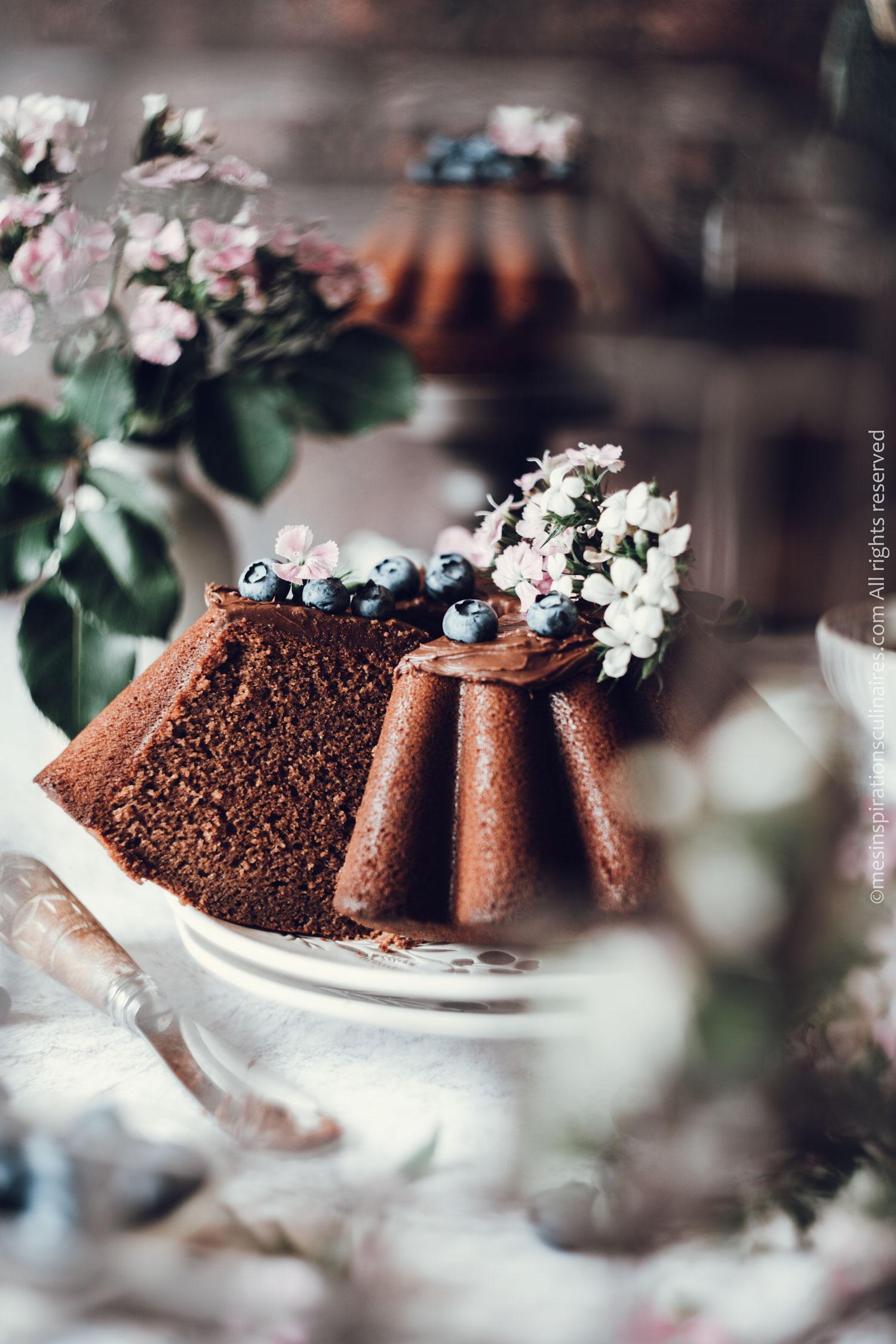 sponge cake chocolat et lait chaud