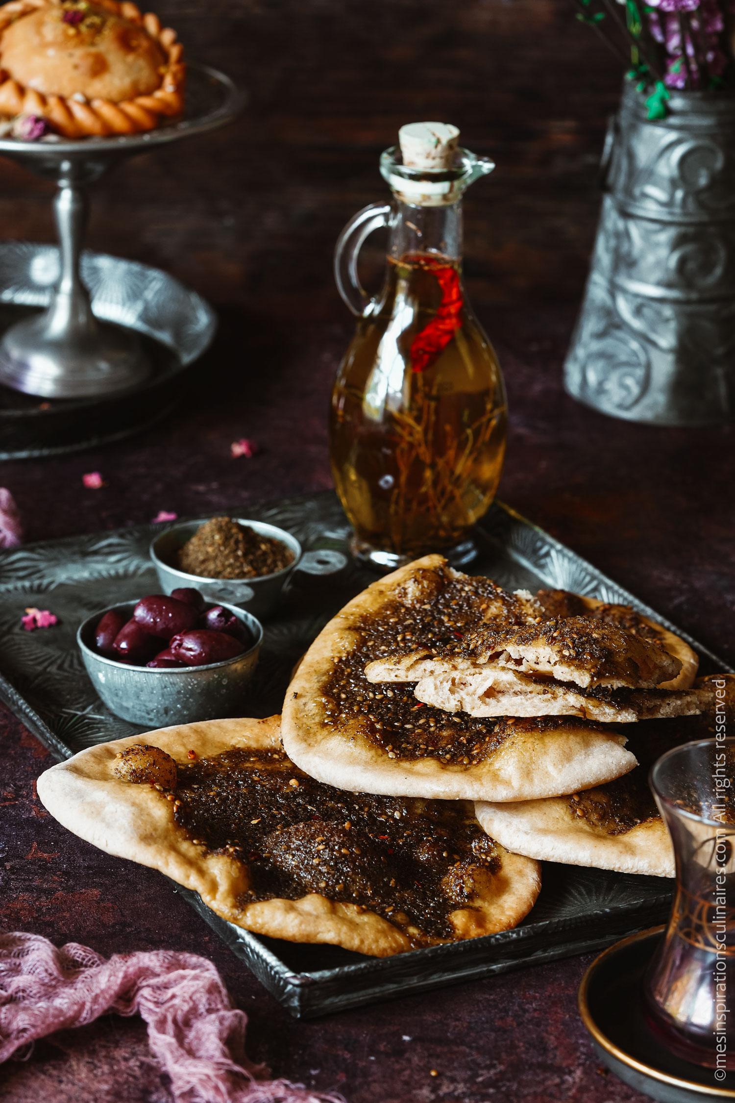 recette pain libanais Mankoush