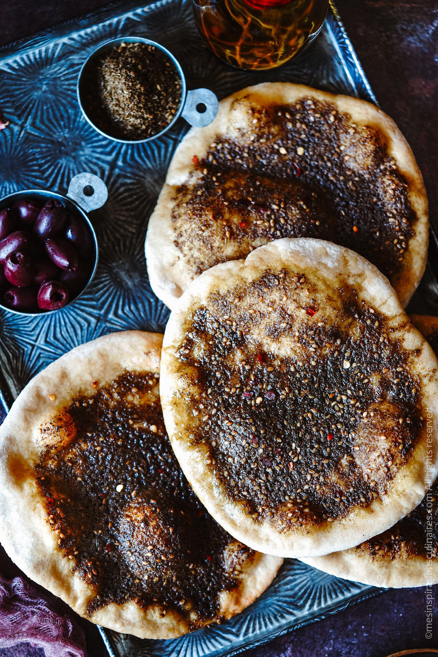 recette pain libanais aux epices Za'atar