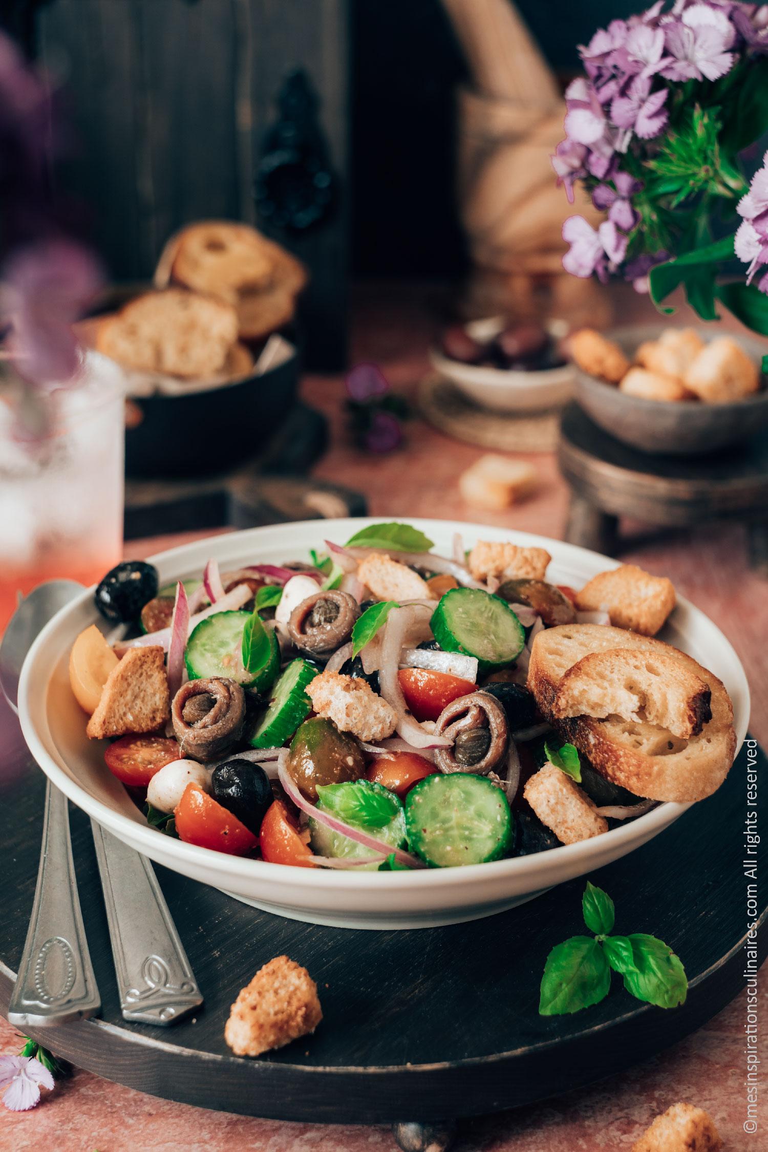 Panzanella recette toscane au pain rassis