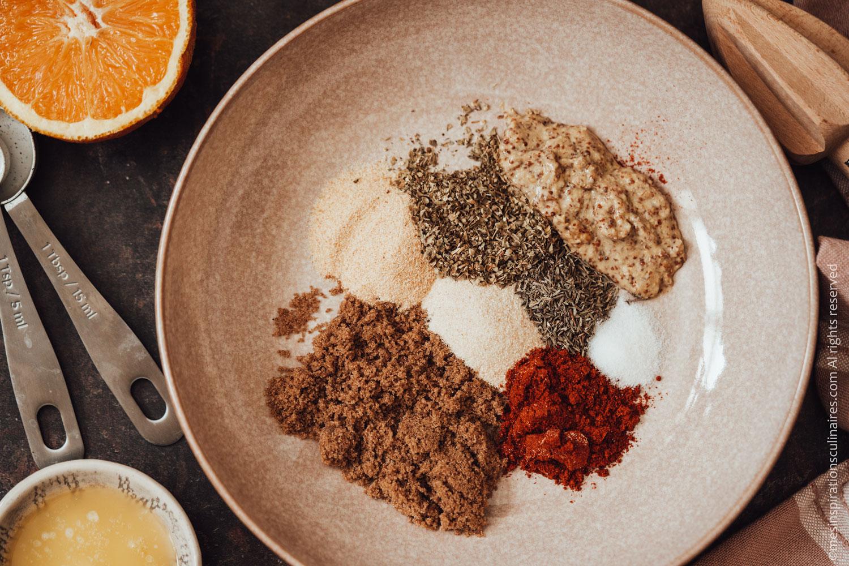 préparer tous les ingredients dans un saladier